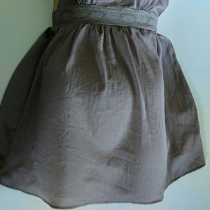 Free People Dresses - FREE PEOPLE Gray Lace Top Fit and Flare Dress XS